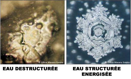 Eau destructurée vs eau structurée energiseur